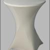 Statafel met deftige witte tafelrok makkelijk inklapbaar