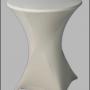 Statafel met witte tafelrok huren – Partytentverhuur de Achterhoek