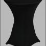 Statafel met zwarte tafelrok – Partytentverhuur de Achterhoek