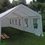Ruime partytent voor 75 gasten ideaal voor grote feesten