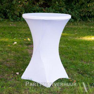 Statafel met rok wit huren - Partytentverhuur Doetinchem