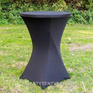 Statafel met rok zwart huren - Partytentverhuur Doetinchem